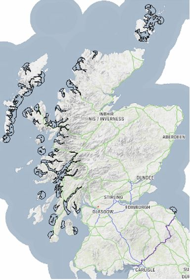 Map of Scotland's Marine Management Areas.