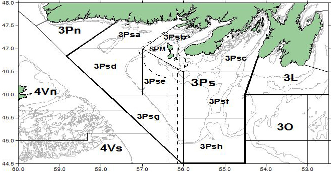Northwest Atlantic Fisheries Organization's (NAFO) Division 3Ps area