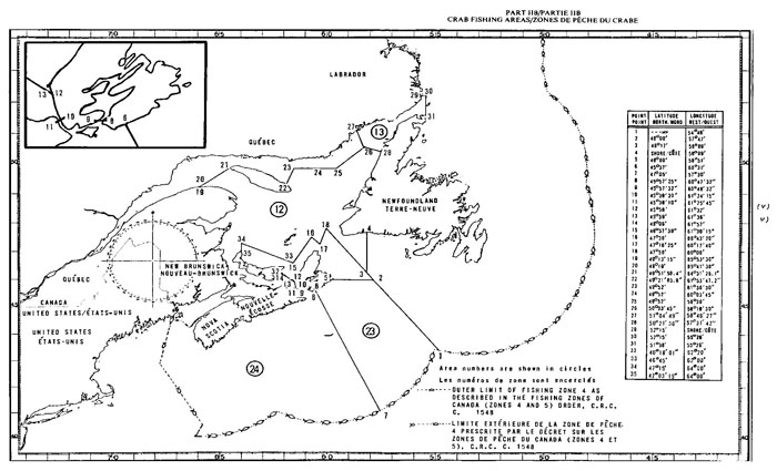Map of Snow Crab Fishing Area