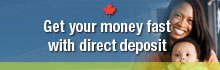 Get your money fast with direct deposit