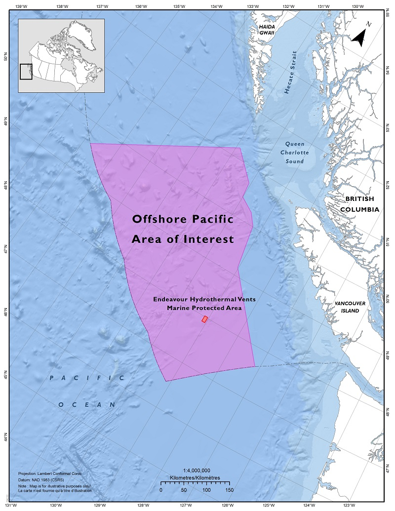 Map: Offshore Pacific Area of Interest (AOI)