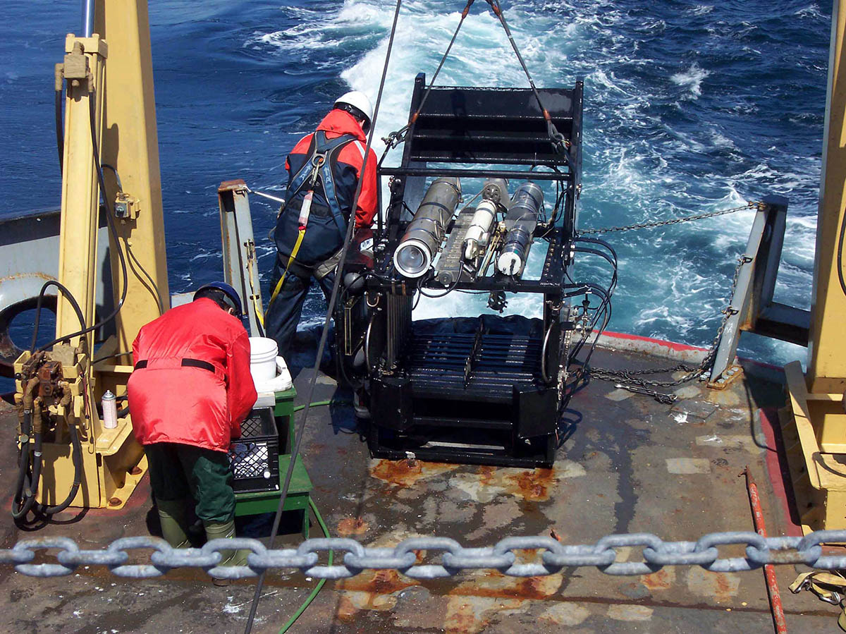 Bioness Deployment from CCGS Hudson. Photo Credit: Hilary Moors-Murphy