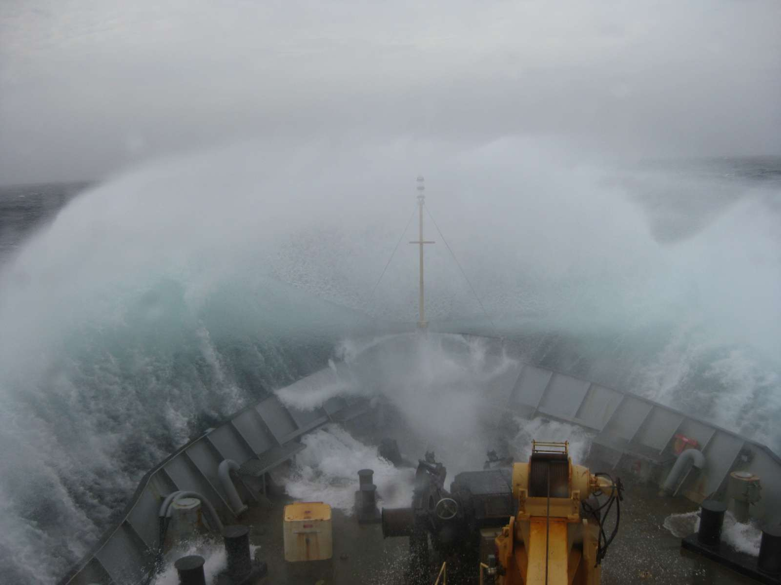 Rough weather in the Gully on CCGS Hudson. Photo Credit: Hilary Moors-Murphy