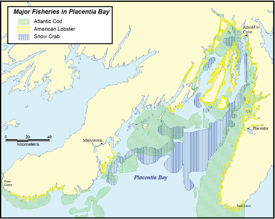 Map: Major Fisheries in Placentia Bay