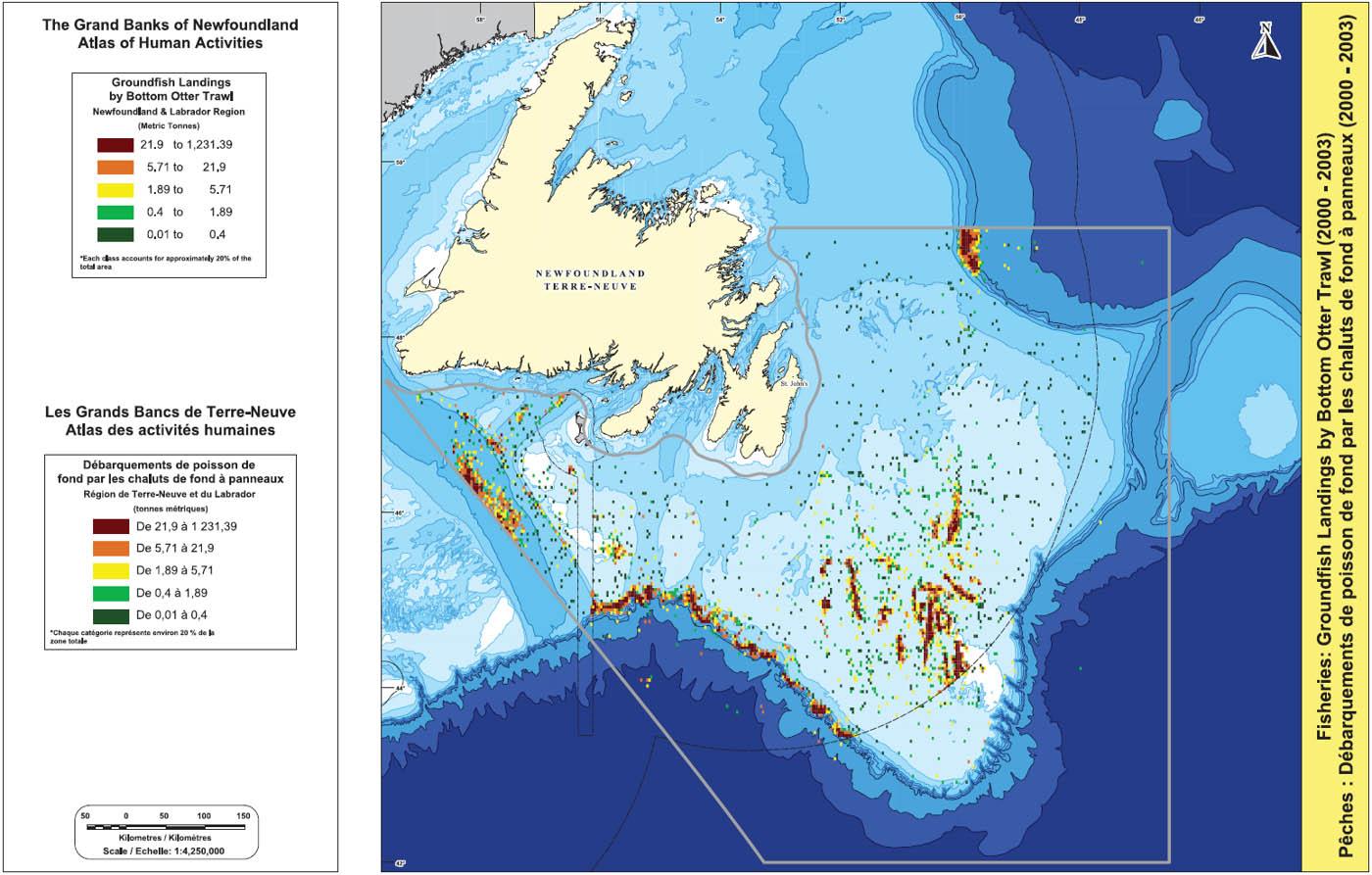 The Grand Banks of Newfoundland: Atlas of Human Activities