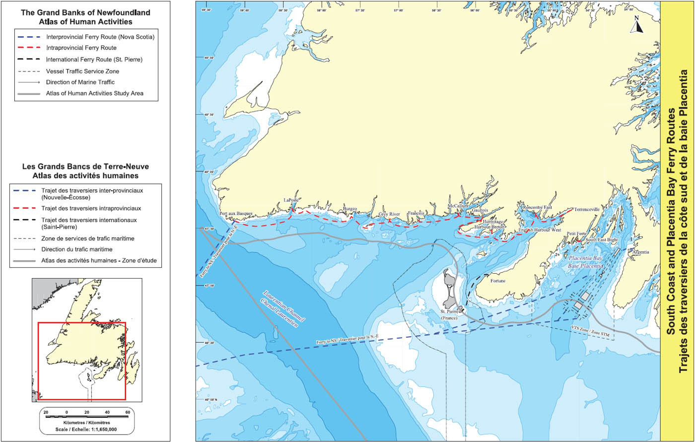 The Grand Banks of Newfoundland: Atlas of Human Activities