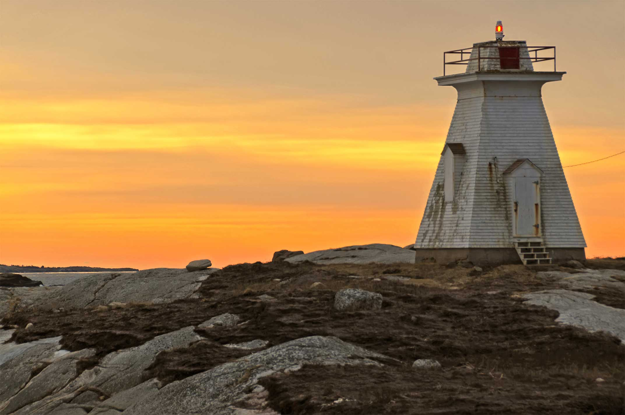 Lighthouse location: On Shipley Head, entrance to Terence Bay, Nova Scotia, Canada. Photo credit: Dennis Jarvis